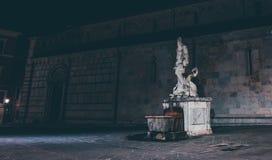 Statue d'Andrea Doria comme Neptune à Carrare Image stock