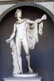 Statue d'Apollo Belvedere dans le musée de Vatican le 24 mai 2011 à Vatican, Rome, Italie Photo stock