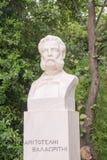 Statue d'Aristotelis Valaoritis dans Sintagma Athènes Images stock