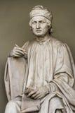 Statue d'Arnolfo di Cambio à Florence, Italie Images libres de droits