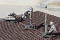 Statue d'art contemporain Photo stock