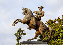 Statue d'Ataturk - vue de côté image libre de droits