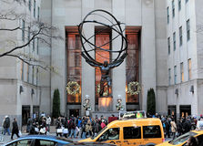 Statue d'atlas, cinquième avenue , New York City, NYC Photo stock