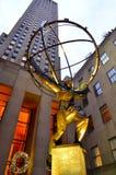 Statue d'atlas sur Manhattan photos libres de droits