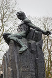 Statue d'August Strindberg chez Tegnerlunden à Stockholm Images stock
