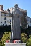 Statue d'aumônier Pio Pietrelcina dans Diamante images libres de droits