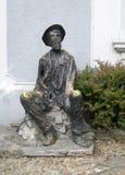 Statue d'auteur serbe célèbre de peintre de poète de Dura Jaksic dans le bohe Images libres de droits