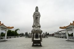 Statue d'Avalokitesvara Pematang Siantar - en Indonésie Photo stock