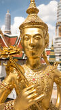 Statue d'or d'ange Photographie stock