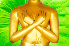 Statue d'or de Bouddha Photo stock