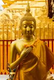 Statue d'or de Bouddha en Doi Suthep Temple Photo stock