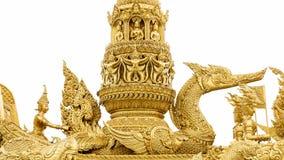 Statue d'or de cygne dans le bouddhisme images stock