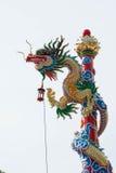 statue d'or de dragon Photographie stock libre de droits