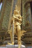 Statue d'or de Wat Phra Kaew à Bangkok, Thaïlande, Asie Photos libres de droits