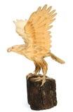 Statue d'Eagle Wooden photographie stock