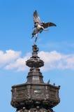 Statue d'eros au cirque de Piccadilly, Londres Photos libres de droits