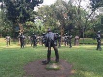 Statue d'exécution de Jose Rizal au parc de Rizal à Manille, Philippines photo libre de droits