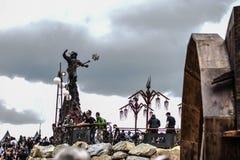 Statue d'hommage de Lemmy dans le festival en métal de Hellfest Image stock