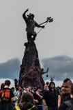 Statue d'hommage de Lemmy dans le festival en métal de Hellfest Photos stock