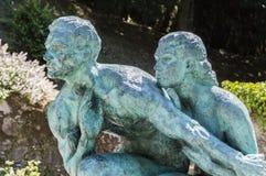Statue d'homme et de femme Image stock
