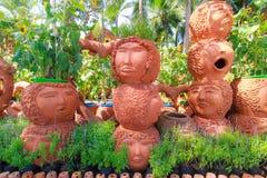 Statue d'humain de pot Photographie stock libre de droits