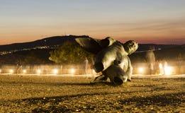 Statue d'Icare Photographie stock libre de droits