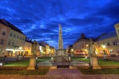 Statue d'Immaculata à Kosice, Slovaquie, HDR Images libres de droits