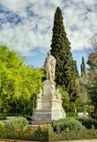 Statue d'Ioannis Varvakis, Athènes, Grèce Image libre de droits