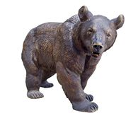 Statue d'isolement d'ours photographie stock