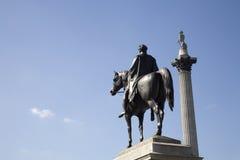 statue d'iv de george de fléau Londres Nelson Photos libres de droits