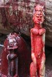 Statue d'offerta in un villaggio di Dogon, Mali Fotografie Stock