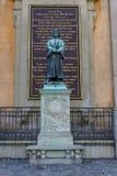 Statue d'Olaus Pétri à Stockholm photo libre de droits