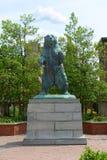 Statue d'ours de Brown, Brown University, Providence, Etats-Unis Photos libres de droits