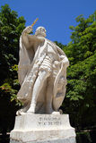 Statue d-Sancho 4 in Madrid am Retiro Park Stockbilder