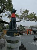 Statue d'un dieu de Shinto de riz images libres de droits