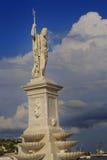 Statue d'un dieu grec Poseidon au compartiment de La Havane Image libre de droits