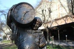 Statue d'un homme avec un baril Image libre de droits