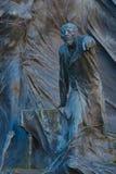 Statue d'un homme dirigeant son doigt Photo stock