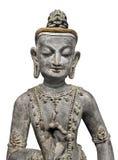 Statue d'un professeur bouddhiste Isolated Photographie stock