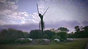 Statue d'une femme Photographie stock