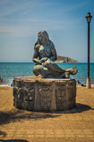 Statue d'une femme de Tayrona, Santa Marta, Colombie Image stock