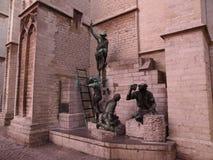 Statue dalla cattedrale a Anversa fotografia stock libera da diritti