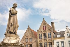 Statue, Damme, Belgium Royalty Free Stock Photos