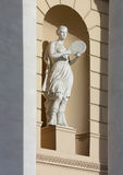 Statue of the  dance goddess Terpsichore with a tambourine Stock Photos