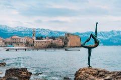 The statue Dancer, Ballerina in Budva, Montenegro Stock Images