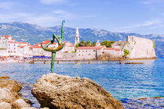 Statue of a dancer in Budva, Montenegro Royalty Free Stock Image