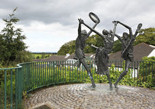 Statue of dancers at the city Cashel in Ireland Stock Photography