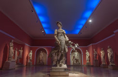 The statue of a dancing woman at Antalya Archeological Museum, Royalty Free Stock Photography