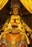 Statue dans la foi de l'Asie de religion de chiffre de sculpture de la Chine religieuse images libres de droits
