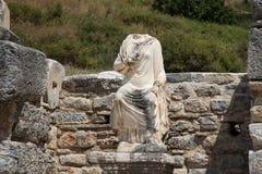 Statue dans la ville antique d'Ephesus Photographie stock libre de droits